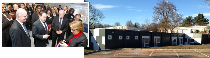 Construction modulaire IRA inauguré par la Ministre