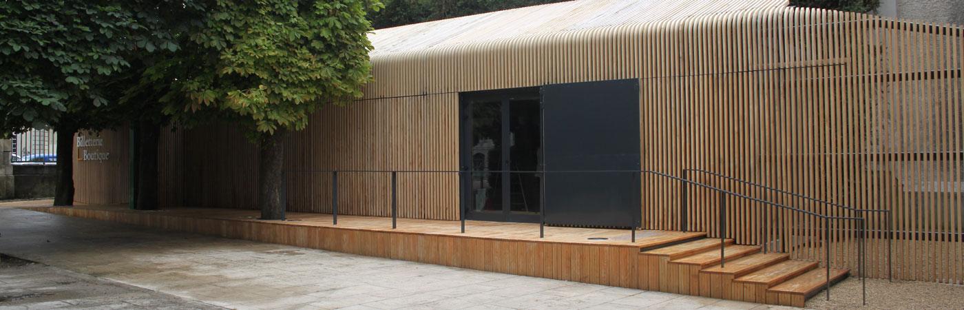 Boutique modulaire pour un musée