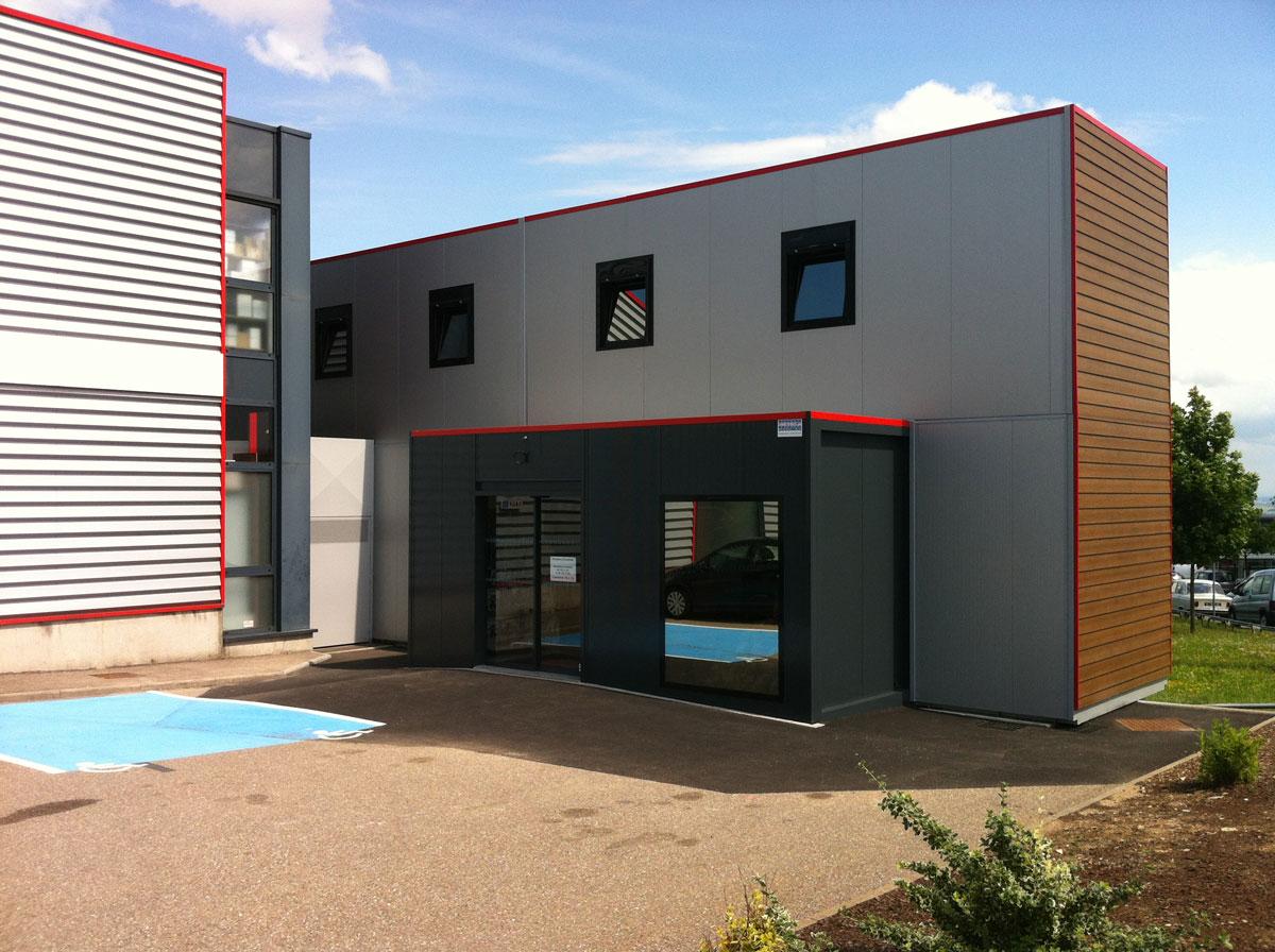 Extension bureaux et SAV en modulaire pour Nouvelec à Nancy
