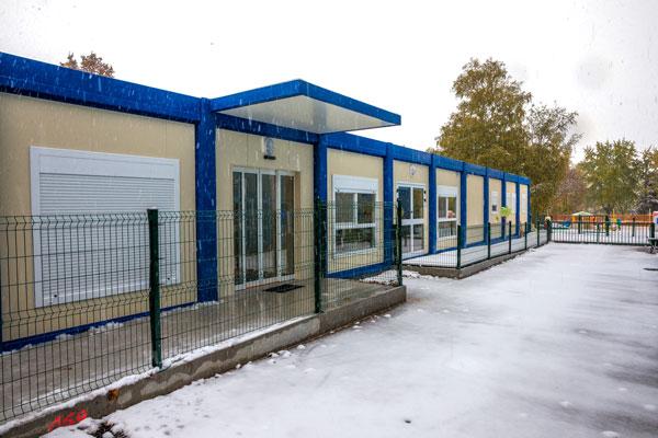 Bâtiments temporaires en modules RBS pour une crèche