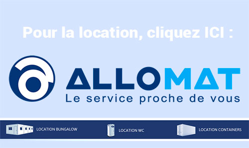 site Allomat pour la location de modules