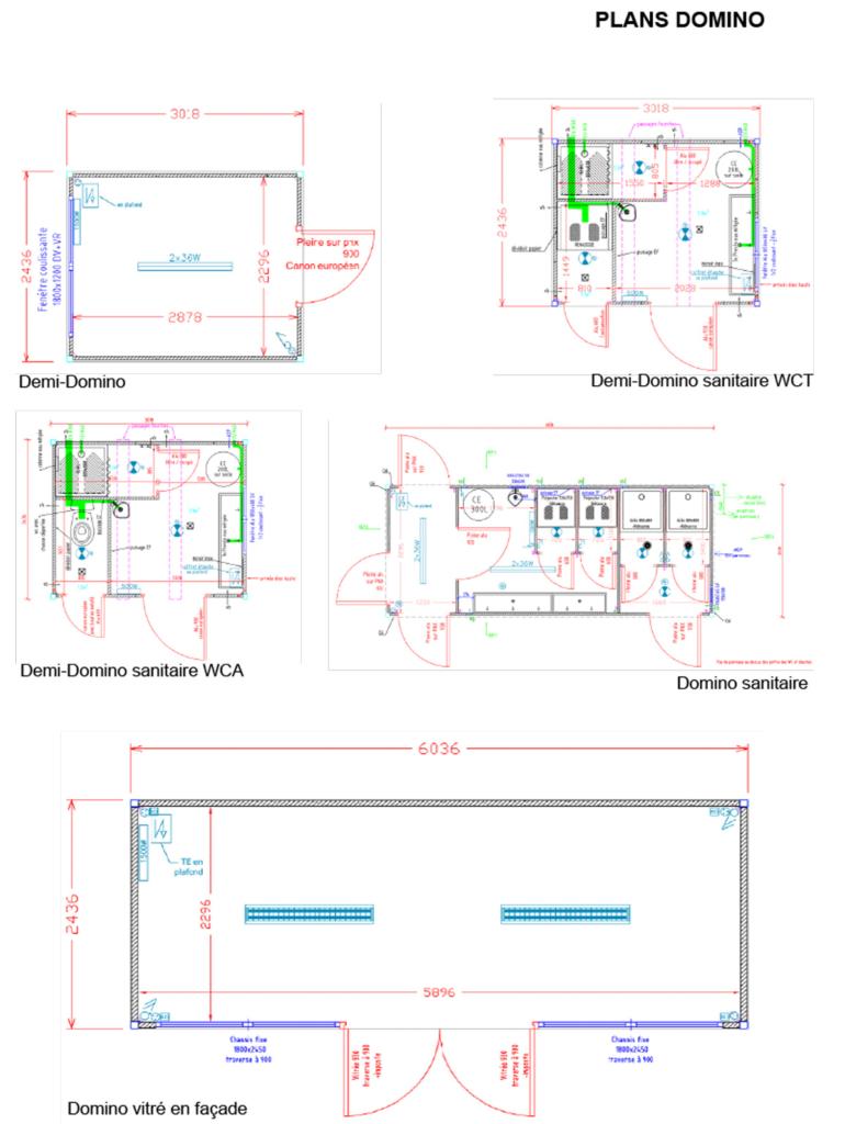 Plans modules DOMINO
